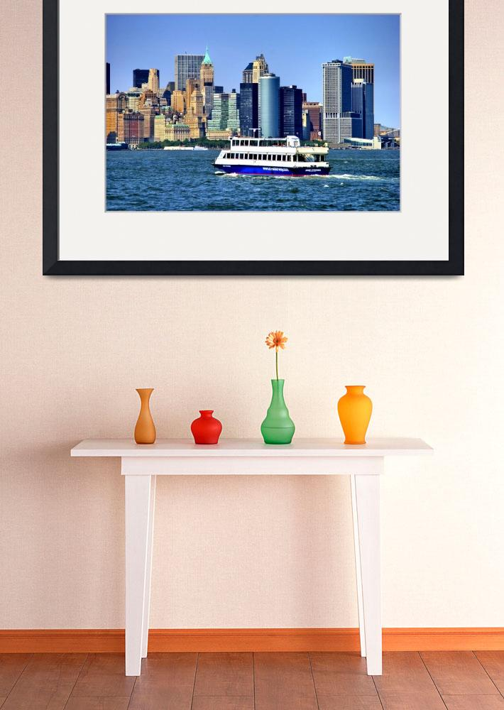 """""""Lower Manhattan View from Hudson Harbor""""  (2009) by New-Yorkled"""