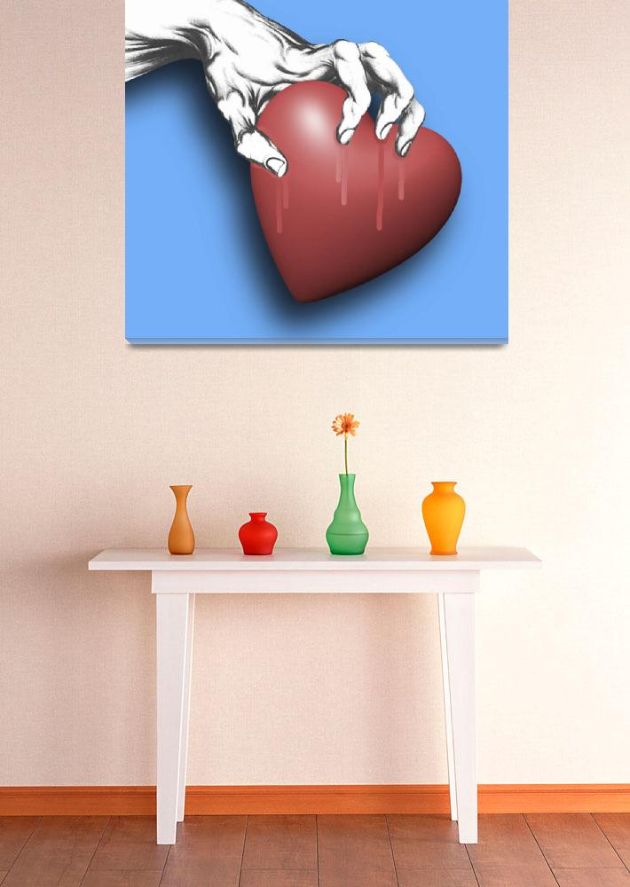 """""""Heart Series Love Clawed Hearts&quot  (2018) by RubinoFineArt"""