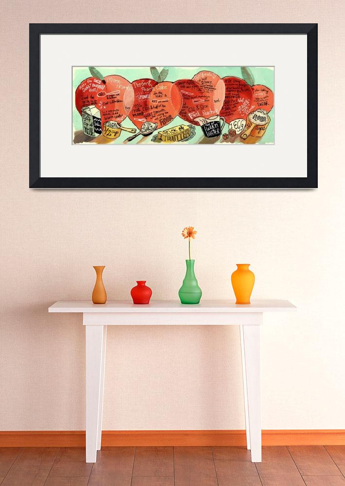 """""""Peach Cake by Kristin Nohe&quot  by TheyDrawandCook"""