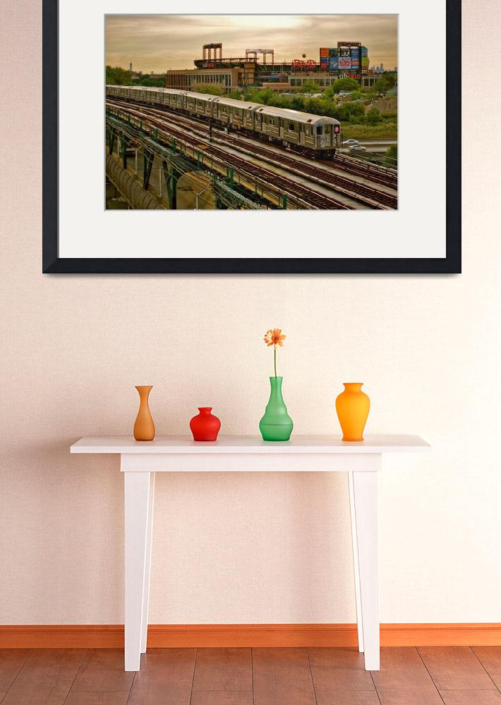 """""""The 7 train and Citi Field""""  (2012) by DarrenMeenan"""