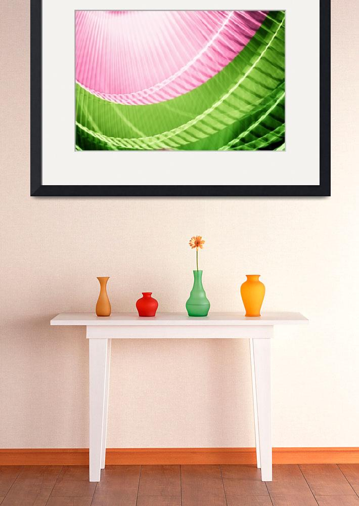 """Pink and Green Abstract Wall Art&quot  (2010) by NatalieKinnear"