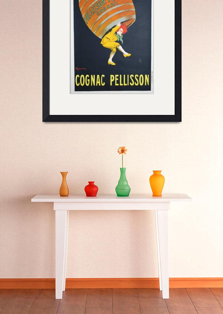 """Vintage poster - Cognac Pellisson&quot  by mosfunky"