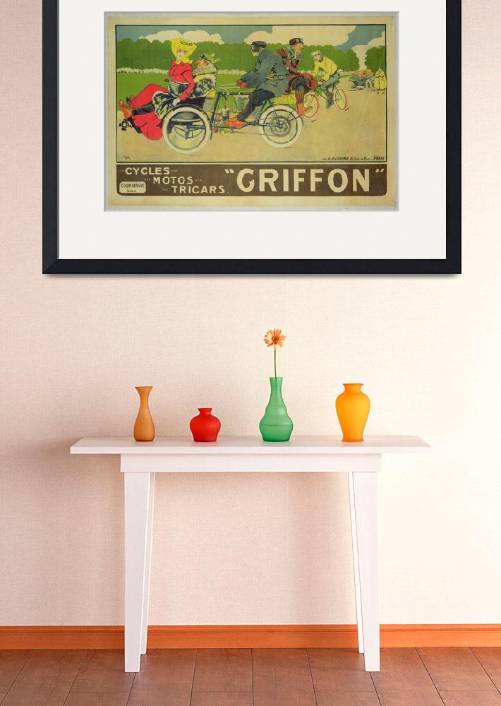 """""""Poster advertising Griffon Cycles, Motos & Tricars&quot  by fineartmasters"""