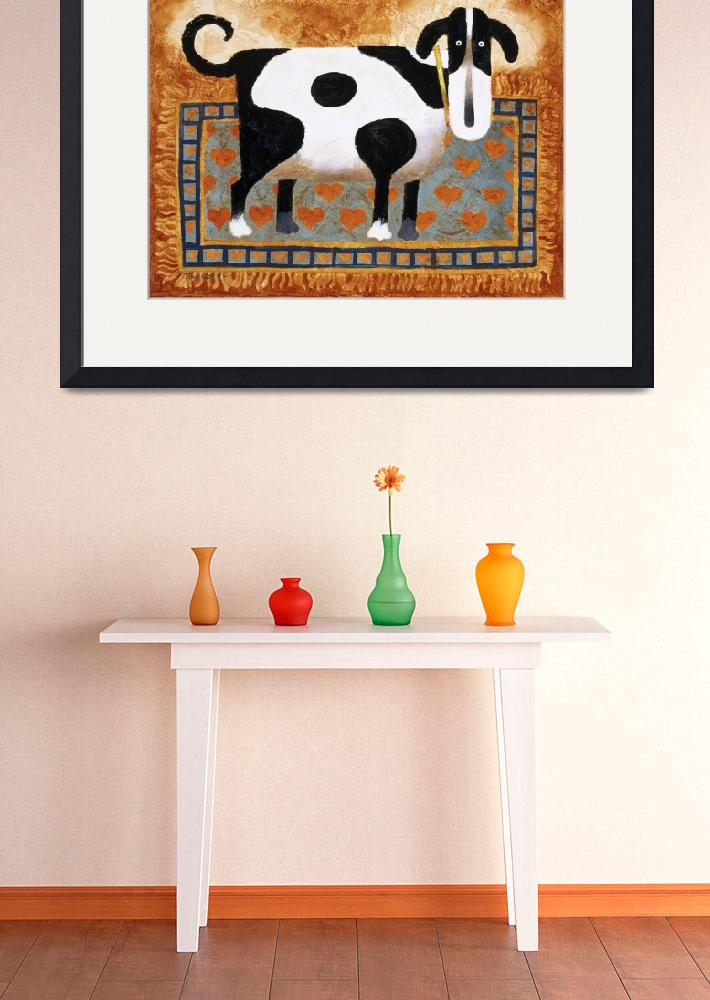 """""""Dog On A Rug&quot  by artlicensing"""