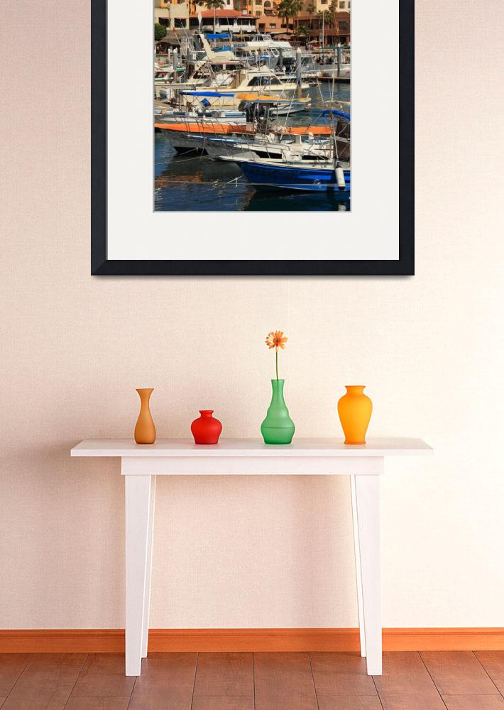 """""""Harbor Waterfront in Cabo San Lucas, Mexico""""  (2012) by RoupenBaker"""