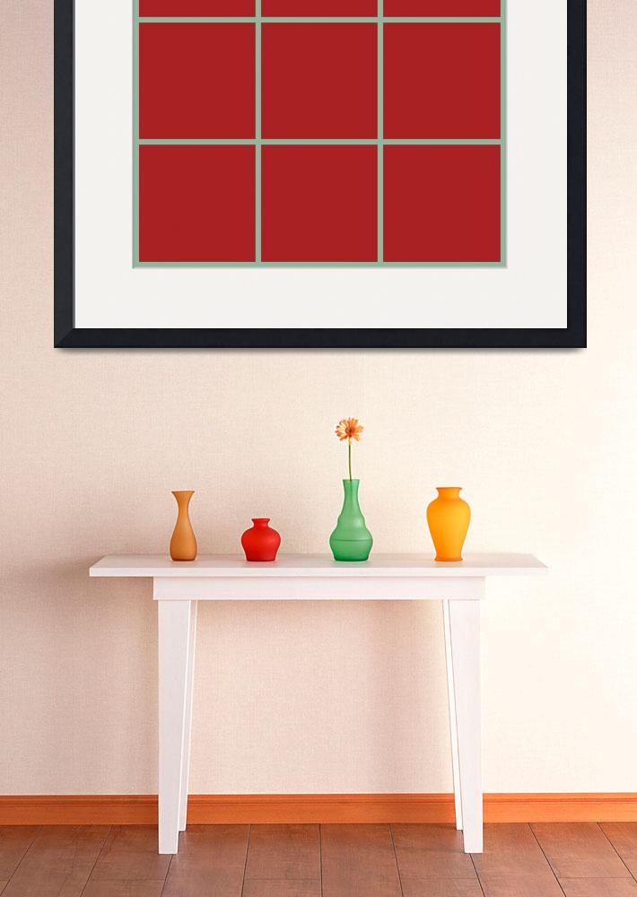 """""""Red Window 152 Canvas Contemporary Modern&quot  (2010) by Ricardos"""