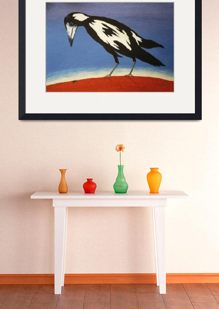 """THE INQUISITIVE MAGPIE (AUSTRALIA)&quot  by RoseLangfordPrints"