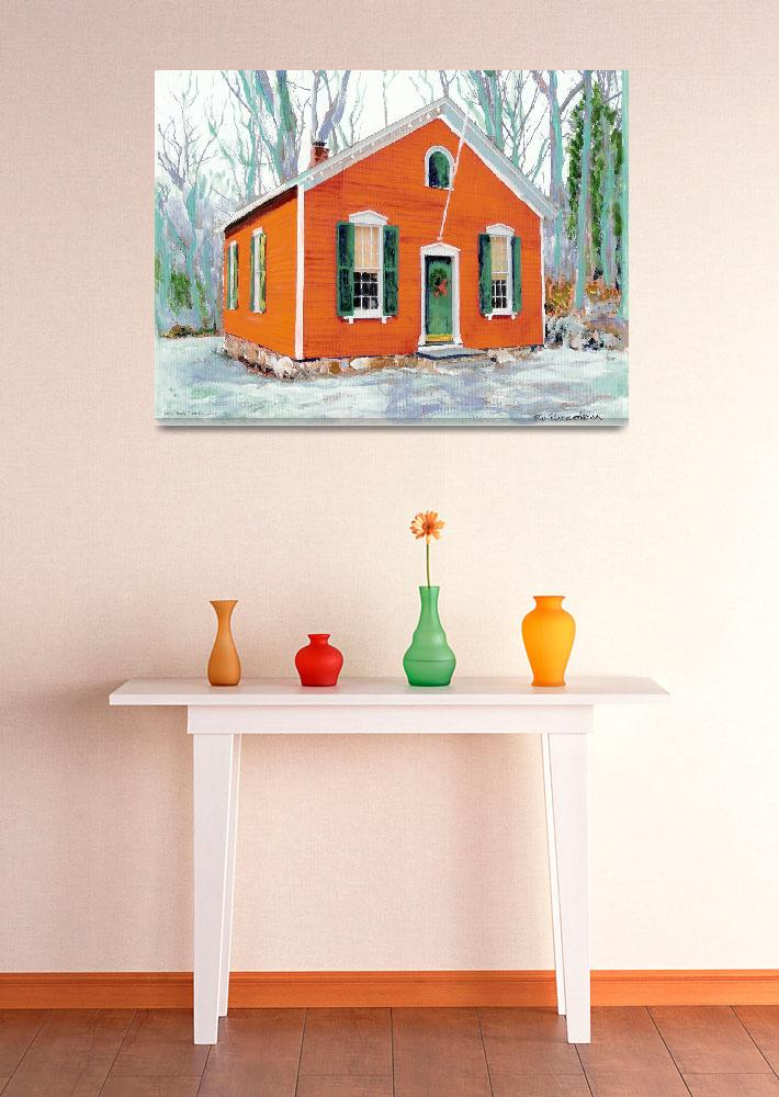 """""""Little Red School House New Canaan Connecticut&quot  (2005) by RDRiccoboni"""