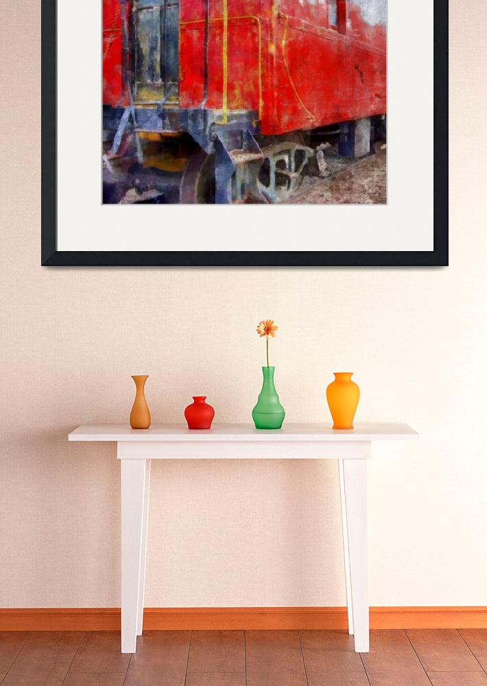 """""""Old Red Caboose&quot  (2013) by Michelle1991"""