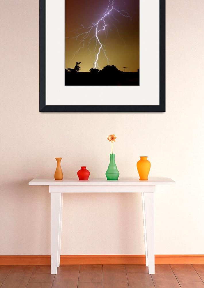 """""""A bright bolt of lightning at the suburbs of Bueno&quot  by stocktrekimages"""