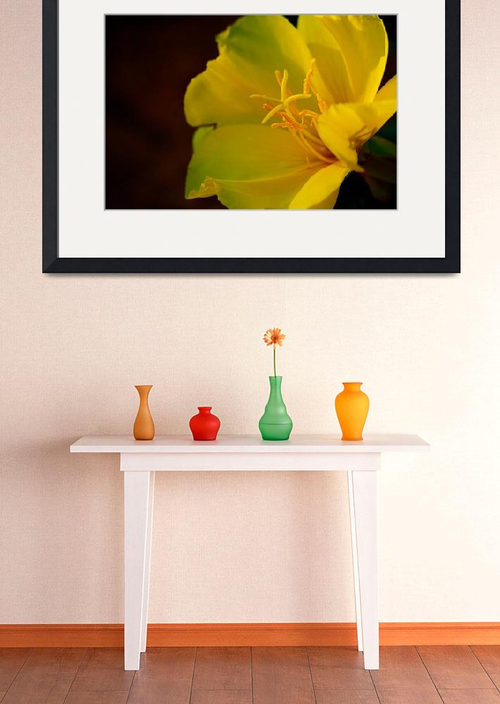 """""""Big yellow spring colored flower&quot  (2015) by Gromushka"""