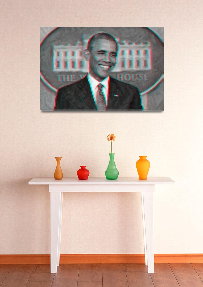 """President Barack Obama 3D art""  by motionage"