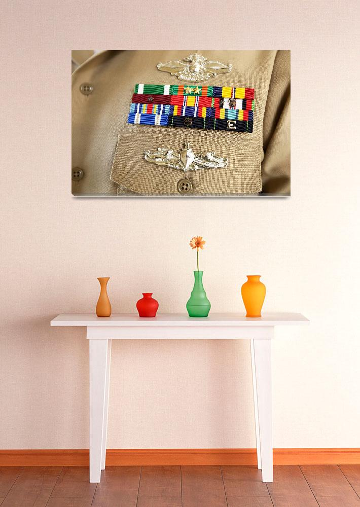 """""""Close-up view of military decorations and honors o&quot  by stocktrekimages"""