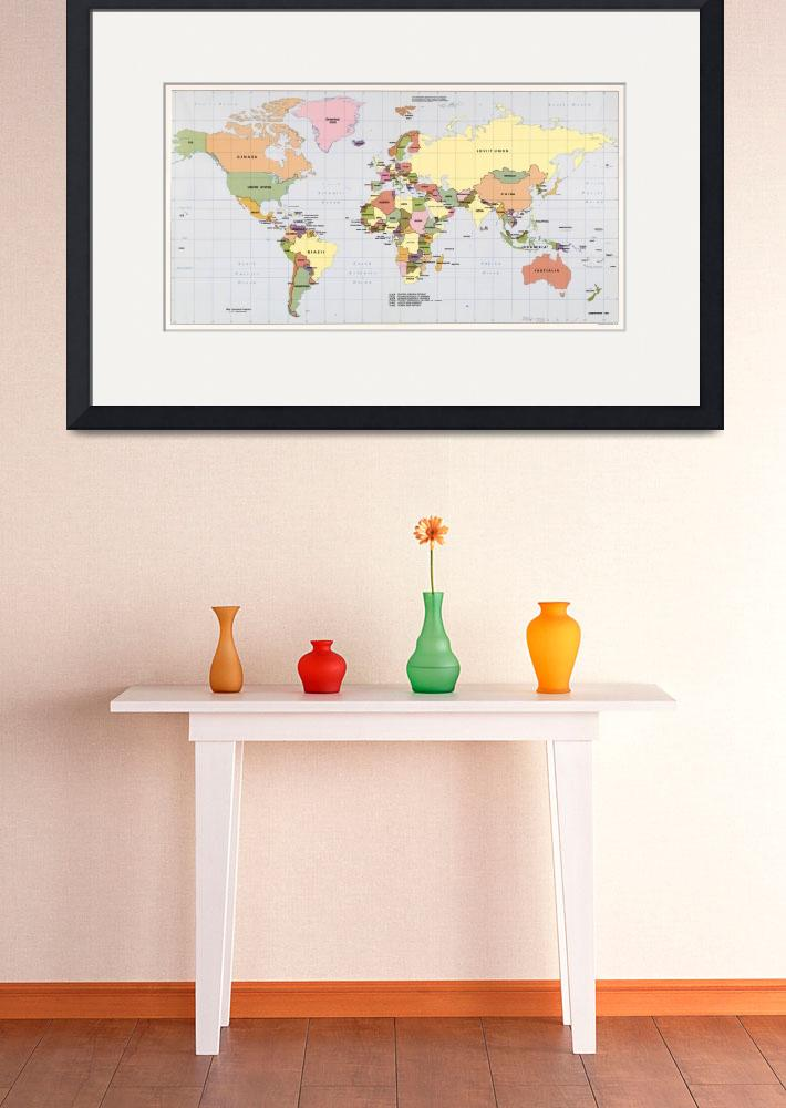 """""""Map of The World with Countries (1987)""""  by Alleycatshirts"""