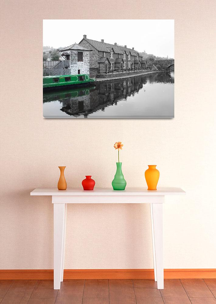 """""""green canal boat&quot  (2008) by brokengateimages"""