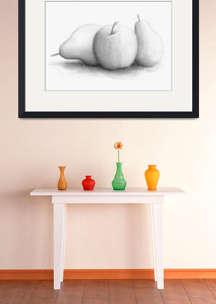"""""""An Apple and Pears&quot  (2012) by arty_tiger"""