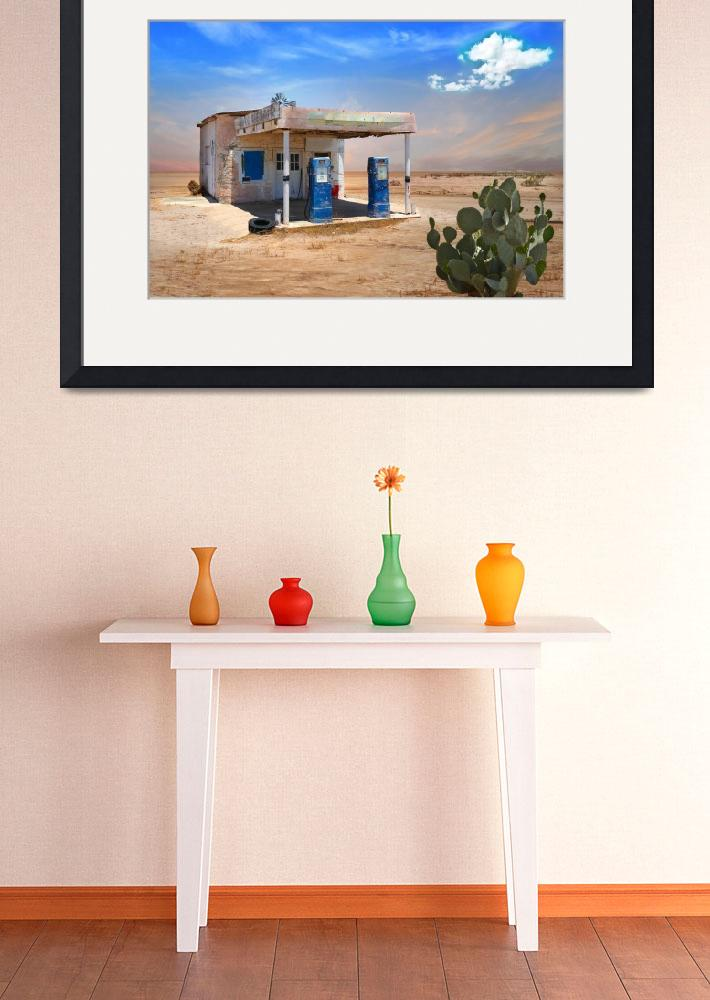 """""""Old Gas Station in Desert&quot  (2016) by charker"""