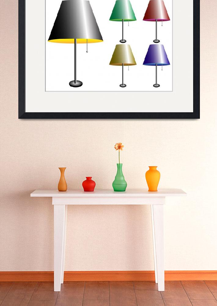 """""""electric lamps with lampshade&quot  by robertosch"""