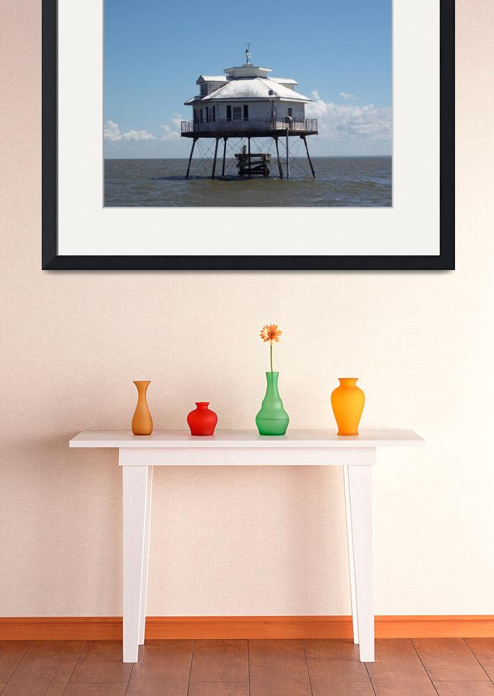 """""""Middle Bay Lighthouse, Mobile Bay&quot  (2008) by mallseitz"""