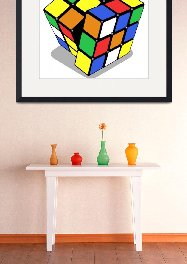 """""""rubik cube isolated on white&quot  by robertosch"""