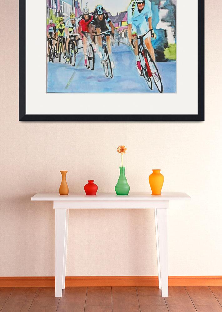 """Nibali breaks away to win Stage 2&quot  (2015) by DianaNadalFineArt"