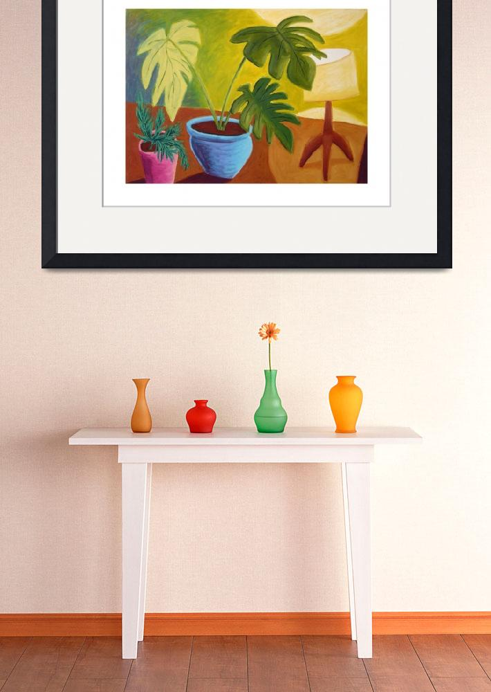 """""""Potted Plants and Lamp&quot  (2007) by pfleghaar"""