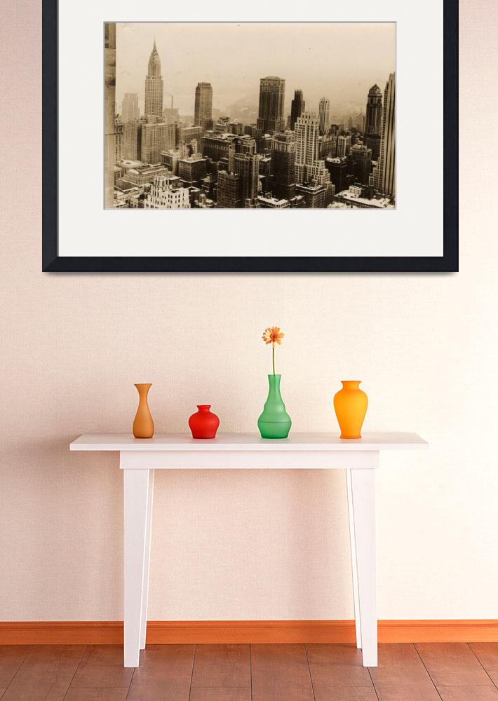 """""""Vintage New York City Skyline Photograph (1935)&quot  by Alleycatshirts"""
