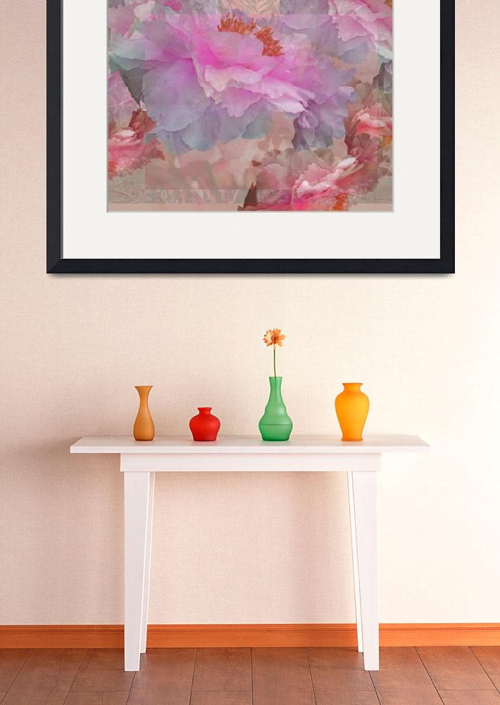 """""""Floral Potpourri with Peonies 7""""  by LyndaLehmann"""