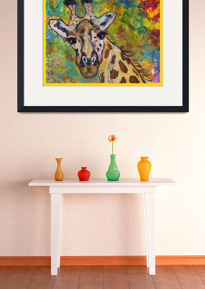 """Giraffe&quot  (2011) by paintingsbygretzky"