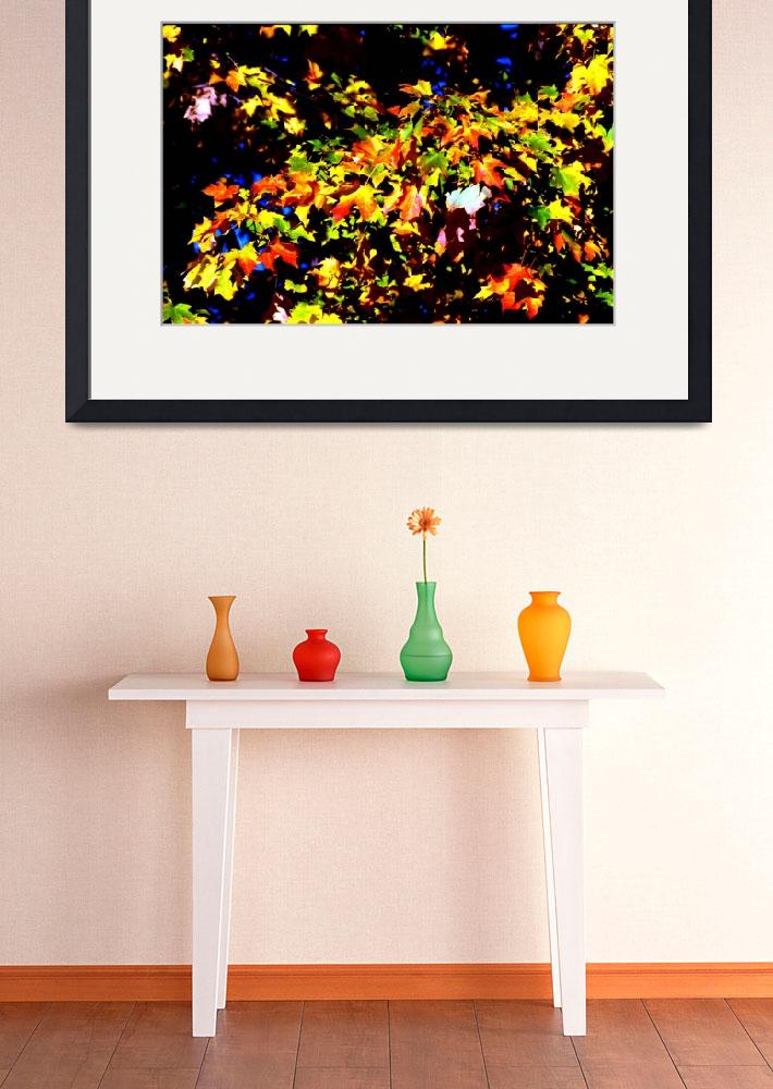 """""""Autumn Leaves, Orange, Yellow, Nature Photography&quot  (1997) by MikeMBurkeDesigns"""