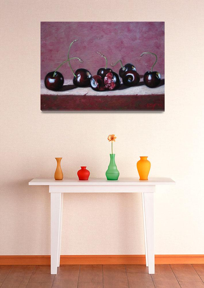"""""""cherries&quot  (2010) by AtelierFineArtFlorence"""