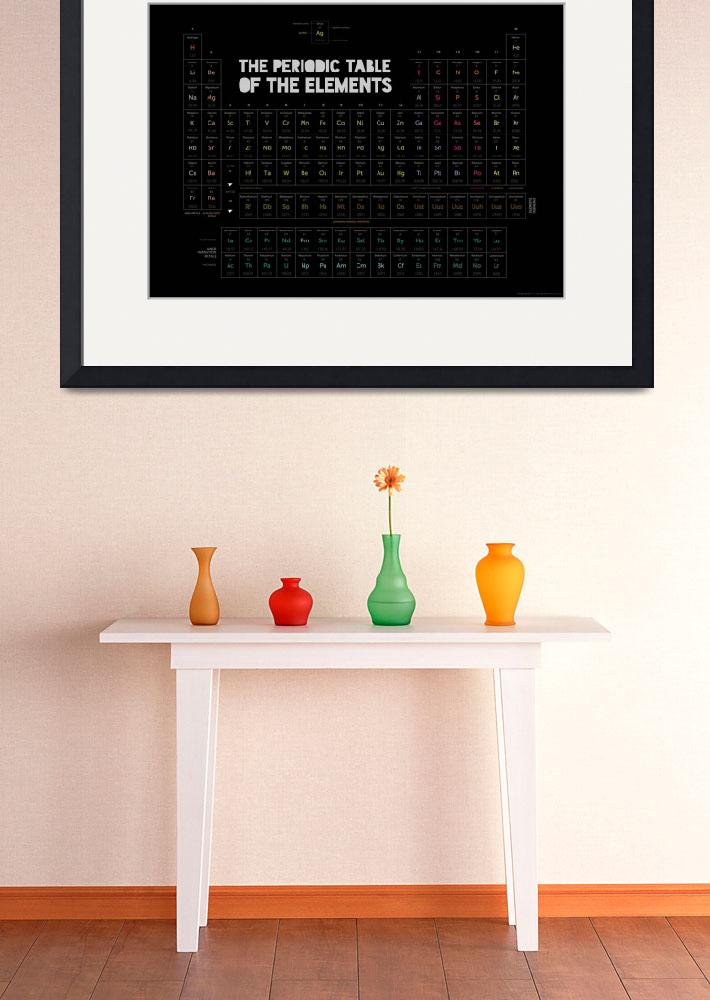 """""""Periodic Table of the Elements (black)&quot  (2013) by ellsworth"""