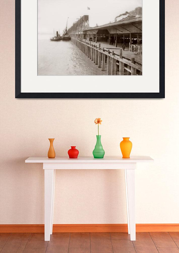 """""""Grain Elevators and cotton warehouse on Mississipp&quot  by worldwidearchive"""
