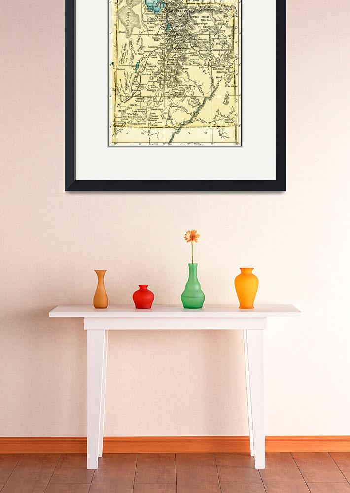 """Utah Antique Map 1891&quot  (2016) by WilshireImages"