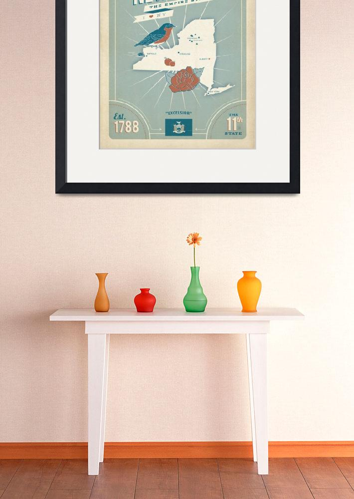 """""""New York: The Empire State - Retro Travel Poster&quot  by artlicensing"""
