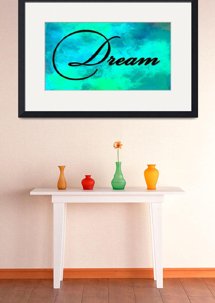"""""""dream black on teal""""  by lizmix"""