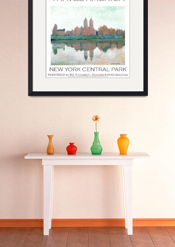 """New York Central Park poster by Riccoboni""  (2009) by RDRiccoboni"