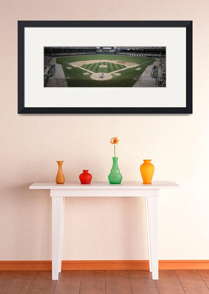 """Baseball match in progress&quot  by Panoramic_Images"