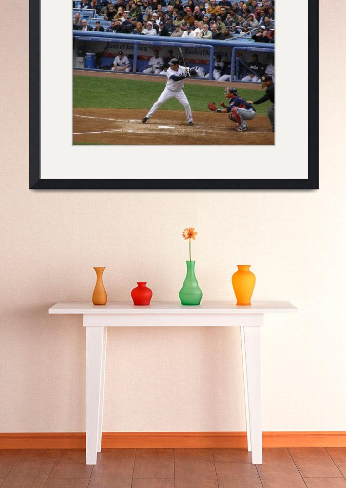 """Jason Giambi at bat""  (2007) by SpinHouse247"