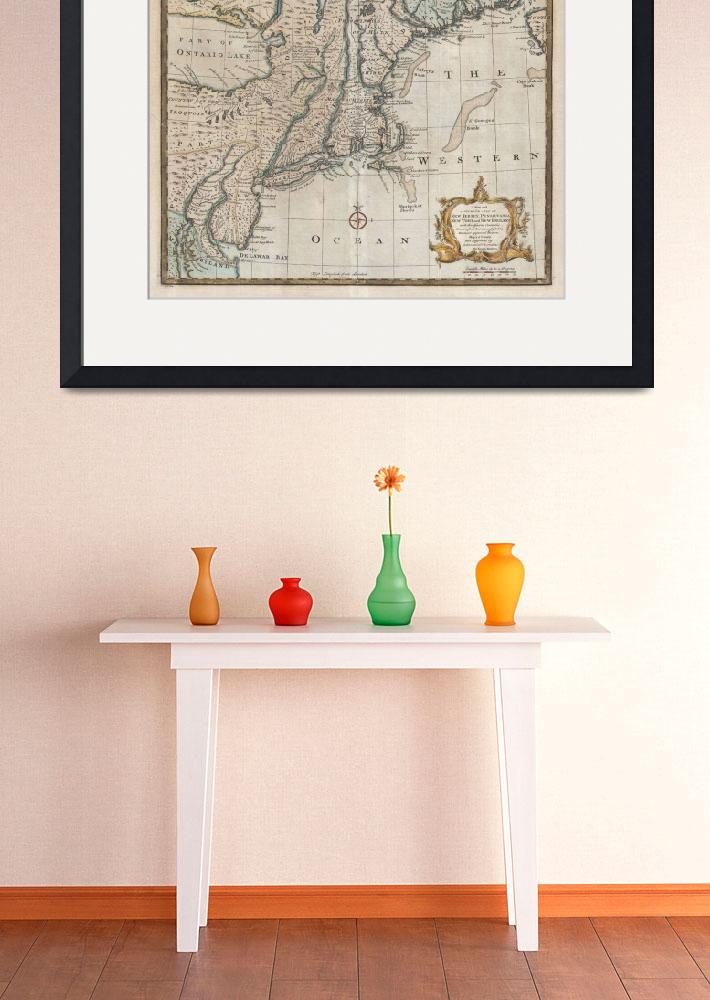 """""""Vintage Map of New England (1747)&quot  by Alleycatshirts"""