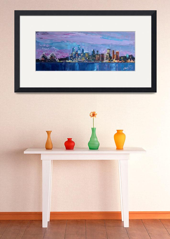 """""""Sydney Skyline with Opera House at Dusk&quot  (2013) by arthop77"""