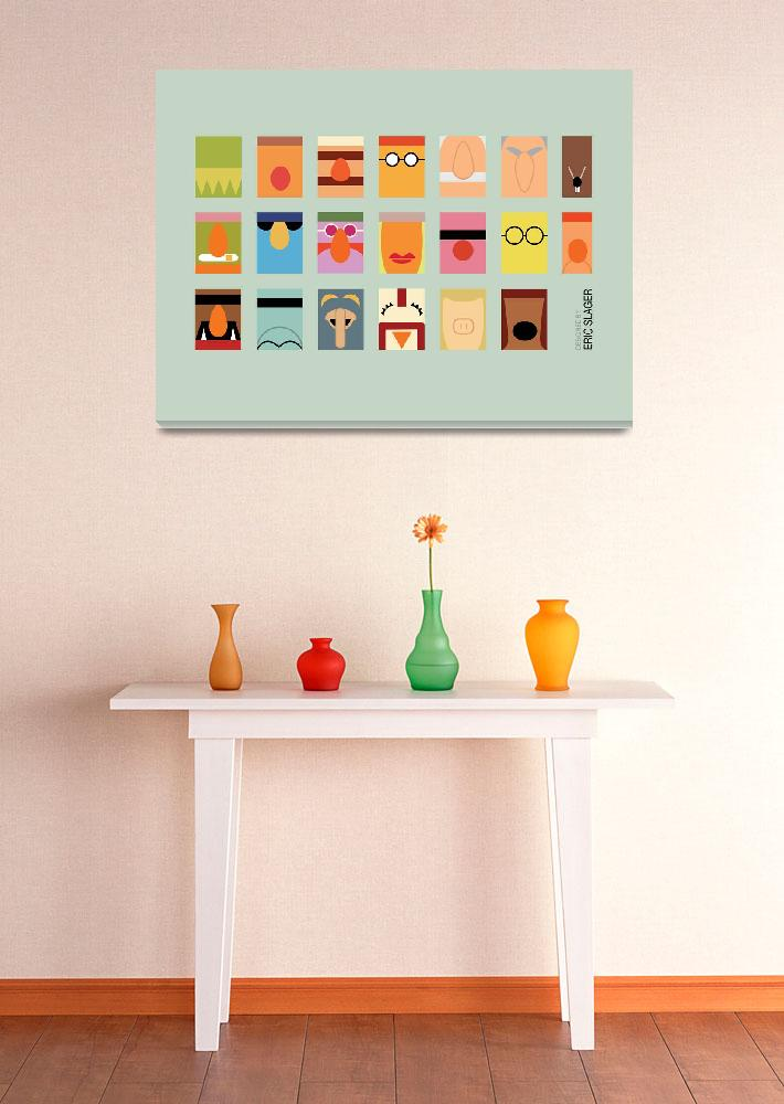 """""""Minimalist Muppets&quot  (2010) by ericslager"""
