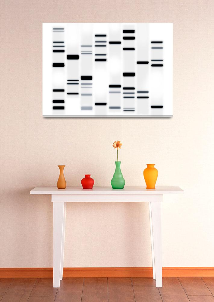 """DNA Art Black on White""  (2010) by ModernArtPrints"