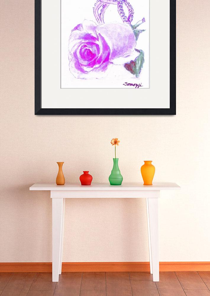 """PURPLE ROSEBUD""  (2014) by JayneSomogy"