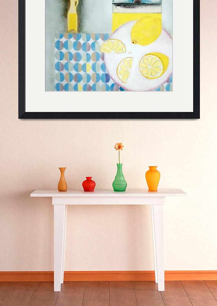 """""""Lemons with table cloth""""  (2005) by talulahblue"""