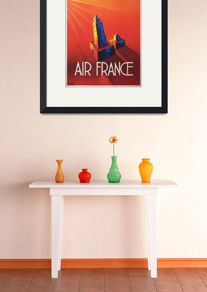 """""""Air France Vintage Poster""""  by FineArtClassics"""