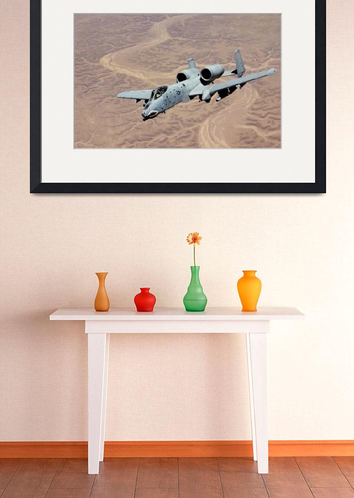 """""""An A10 Thunderbolt soars above the skies of Iraq&quot  by stocktrekimages"""