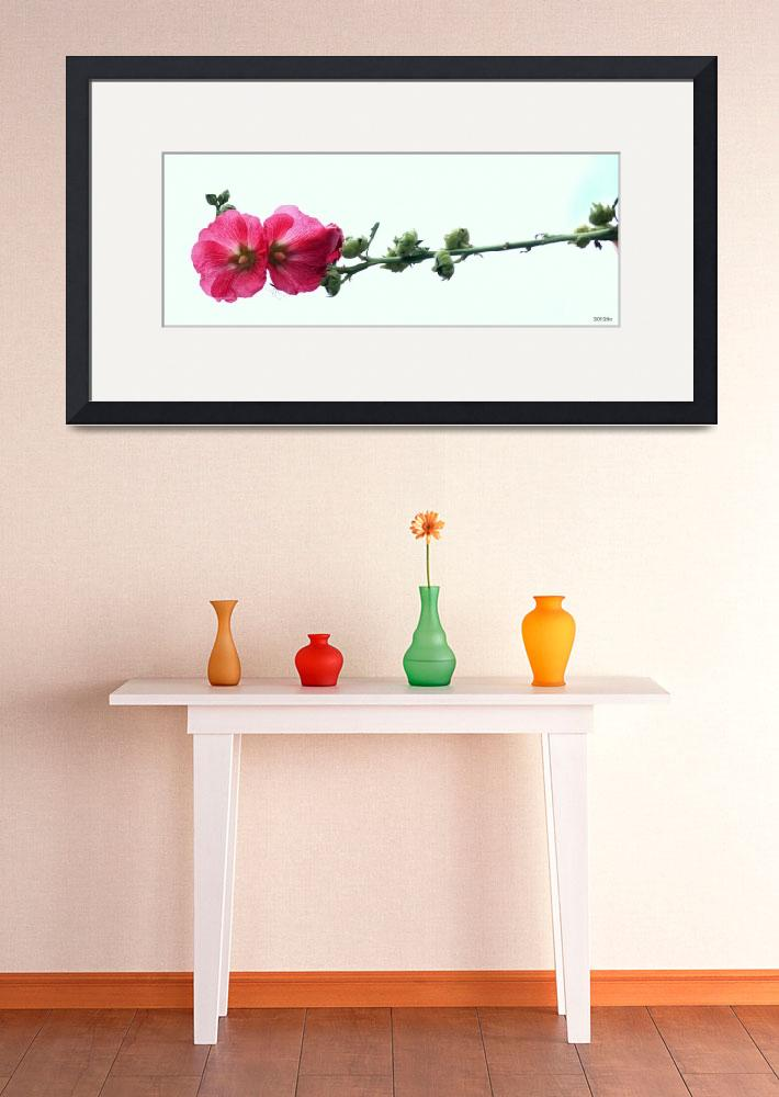"""""""Pink Flowers on Branch""""  (2012) by lwunlimited"""