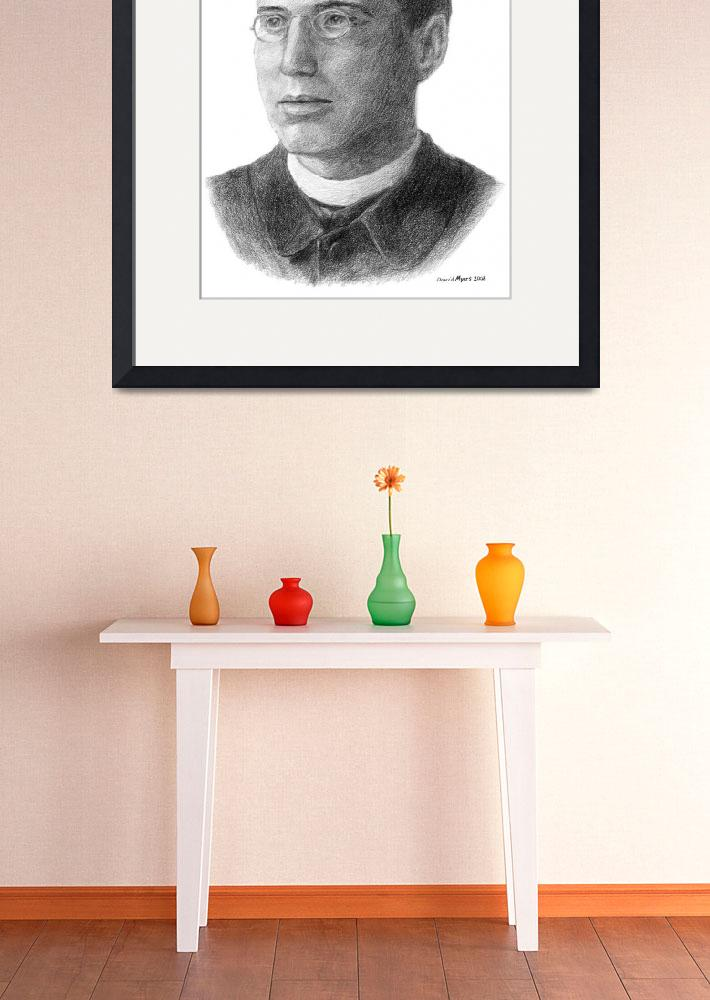 """""""Portrait of Father Thomas Frederick Price (Young)&quot  by davemyersartisservant"""