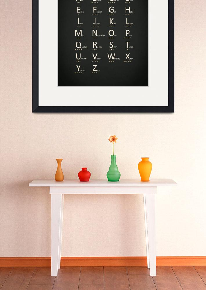 """Morse Code And Phonetic Alphabet&quot  by mark-rogan"